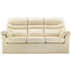 Malvern (Leather) 3 Seater Double Power Action Recliner Sofa