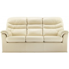 Malvern (Leather) 3 Seater Double Recliner Sofa
