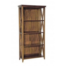 Mahogany Occasional Oxford High Open Bookcase