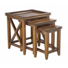 Mahogany Occasional Oxford Nest of Tables