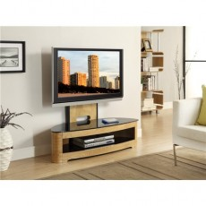 Curve Home Entertainment Cantilever TV Stand