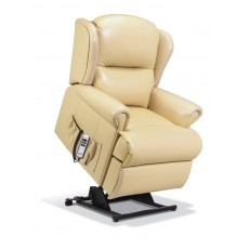 Malvern Leather Powered Small Recliner