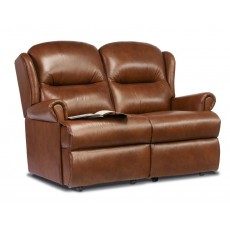 Malvern Leather Small 2 Seater Fixed Sofa