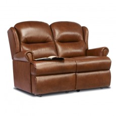Malvern Leather Small 2 Seater Recliner Sofa