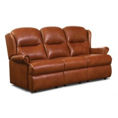 Malvern Leather Small 3 Seater Fixed Sofa