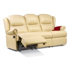 Malvern Leather Small 3 Seater Recliner Sofa