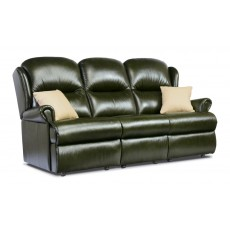 Malvern Leather Standard 3 Seater Fixed Sofa