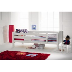 Kids Stuff White Starter Bed With Safety Rails