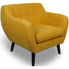Occasional Chairs Jonquil Yellow Stonewash Effect Armchair