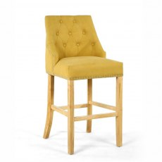 Occasional Chairs Jonquil Yellow Stonewash Effect Bar Chair
