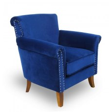 Occasional Chairs Ocean Blue Brushed Velvet Chair