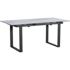 Panama Dining 176cm - 216cm Ext Dining Table Ceramic Light Grey