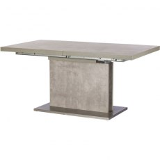 Petra Dining 160cm Concrete Extending Dining Table