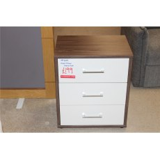 Clearance - Bedroom Wellemobel Oxford 3 Drawer Bedside - Hickory