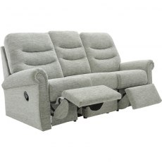Holmes (Fabric) 3 Seater Double Manual Recliner Sofa