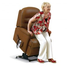 Keswick Leather Small  Electric Lift Recliner - Single Motor