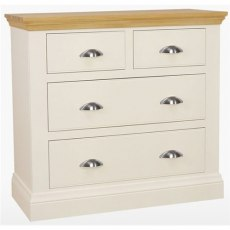 Coelo Bedroom Premier 2 + 2 Drawer Chest in Lacq/Oyster White
