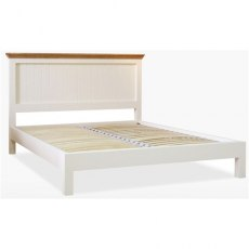 Coelo Bedroom Premier Double Panel Bed LF in Lacq/Oyster White