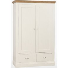 Coelo Bedroom Express Wardrobe 2 Drawers in Lacq/Ice White