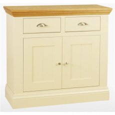 Coelo Dining Premier 2 Drawer 2 Door Sideboard in Lacq/Oyster White