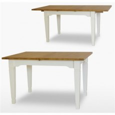 Coelo Dining Premier Extending Table 1 Leaf in Lacq/Oyster White