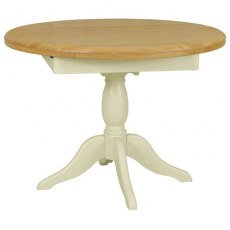 Cromwell Dining Premier Round Extending Table in Lacq/Morning Dew