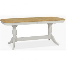 Cromwell Dining Premier Oval Extending Table in Haze/Natural Stone
