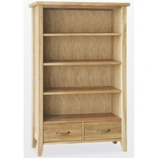 Windsor Dining - Painted Oak Bookcase 2 Drawers