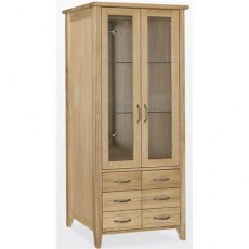 Windsor Dining - Painted Oak Bookcase Glass Doors 6 Drawers