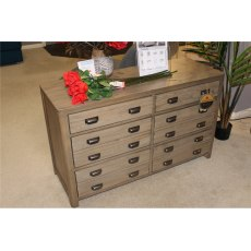 Clearance - Bedroom Torquay 6 Drawer Wide Chest
