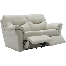 Washington - (Leather) 2 Seater Power Recliner Double