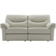 Washington - (Leather) 3 Seater Power Recliner Double