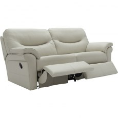 Washington - (Leather) 3 Seater Recliner Double