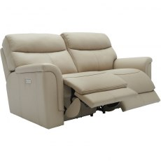 Harrison (Leather) 2 Seater Power Recliner Sofa Double with USB