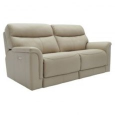 Harrison (Leather) 3 Seater 2 Cushion Power Recliner Sofa Double with USB