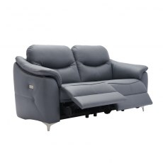Jackson (Fabric) 3 Seater Power Recliner Sofa Double with USB