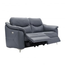 Jackson (Leather) 3 Seater Power Recliner Sofa Double with USB