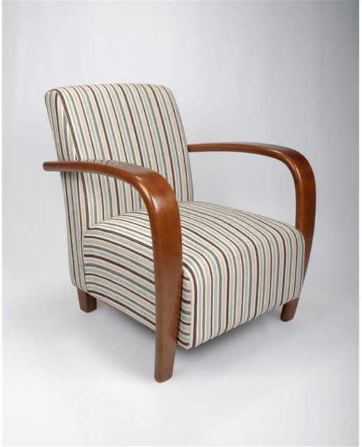 Occasional Chairs Restmore Stripe, Occasional Chairs With Wooden Arms
