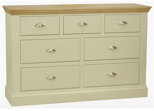 Coelo Bedroom Express 4 + 3 Drawer Chest in Lacq/Ice White